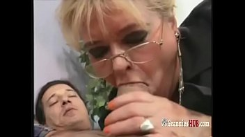 Chubby German Granny Blonde Loves To Ride Big Hard Cock image