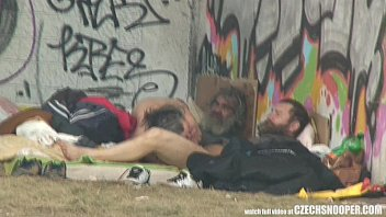 Pure Street Life Homeless Threesome Having Sex on Public 6 min