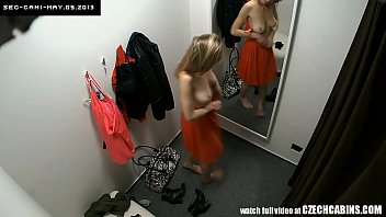 Hidden cam nude - Voyeur two security cams in changing room