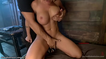 Huge tits MILF is bound and fucked