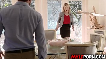 Seductive and horny cougar Maxim Law welcomes her young neighbor Kyle Mason with a hot hardcore sex.
