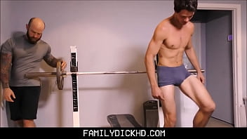 Cartoon father gay son Bear father and jock son workout fuck