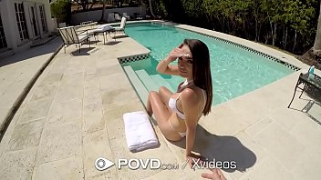 POVD Wet summer pool fuck with MESSY facial 10 min