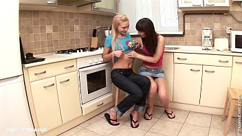 Fresh Tonguers by Sapphic Erotica - Brea and Gresy have hot lesbian sex in the k