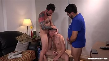 Dads and Son Raw Daisy Chain Fuck
