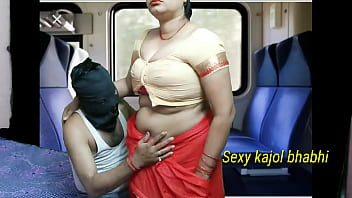 Indian aunty fucking in coach with her son in a journey and sucking cock and take cum in pussy