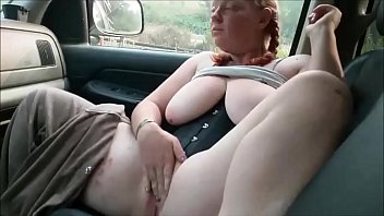 Chubby Girlfriend Masturbating And Sucking Cock In The Car