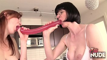 ElliNude and Naughty Julia fucking in the kitchen! preview image