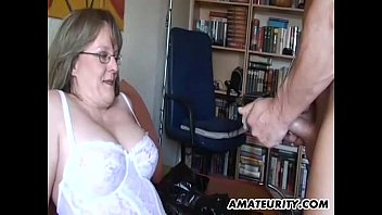 Milf sucks and fucks - Amateur milf with big tits sucks and fucks with cum