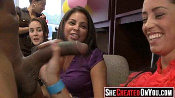 37 Rich milfs blowing strippers at underground cfnm party!42