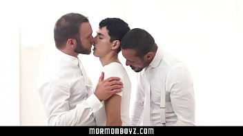 Episcopal and gay bishop - Mormonboyz- submissive boy fucks two older men