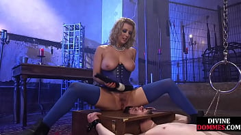 Busty Femdom Toying And Queening Pathetic Sub