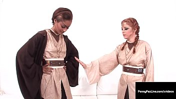 """Juicy Jedi Masters, Penny Pax & Skin Diamond, orgasm in this interracial Sci Fi Lesbian Fuck clip, where """" May The Force be IN You"""" has a different meaning! Full Video & Penny Live @ PennyPaxLive.com!"""