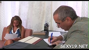 Lusty playgirl is giving mature teacher a lusty blowjob session