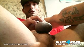 Huge shaved gay cocks Krys brown - flirt4free - hot hunk jerks his cock up close and personal