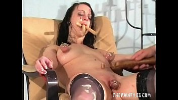 Pigtails latex girlfriend squirt