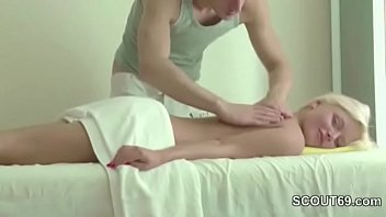 Petite Blond Teen Seduce To Fuck by Stranger in Massage