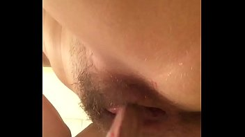 Squirting masturbation with toilet plunger