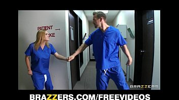 Slutty blonde nurse sneaks off at work to bang a hospital intern