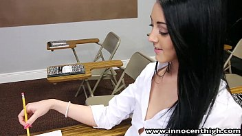 College student fucks Innocenthigh college student sabrina banks ass licked and fucked in classroom
