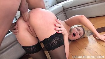 Teen gangbang of Russian nympho Lucy Heart DP and DAP until messy facial