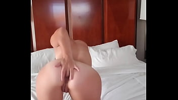 Anal and pussy fucking with dildo