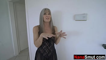 My step grandmother is a sex maniac! - old & young 8 min