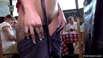 Euro brunette fucked in restaurant Thumb