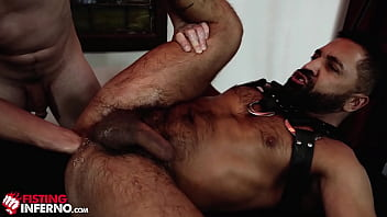 FistingInferno - Hairy Daddy Rides Fist Like A Champ