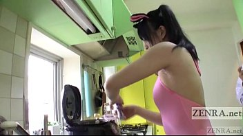 Asian food magazine - Japanese av star bizarre rice balls armpit pressing subtitled