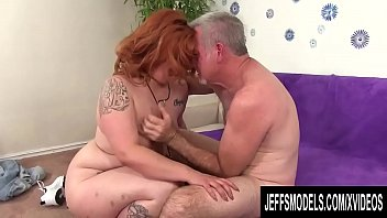 Fat Ginger Slut Lilly Lust Gives an Experienced Grandpa a Run for His Money