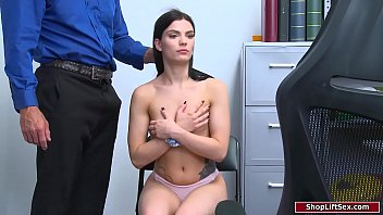 CoverTeen babe fucked by officer for stealing