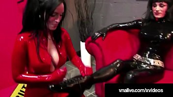 RubberDoll Dildo Fucked By Living Doll Nicci - VNALive.com!