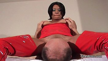 White guys black pussy Ebony domme with old white man