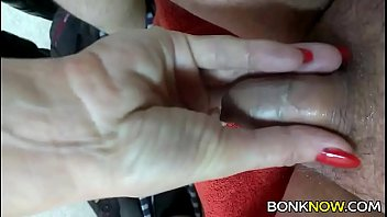 Uncut penis is hot Babe plays with tiny cock