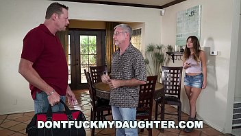 DON'T FUCK MY DAUGHTER - Charlotte Cross Gets Plumber To Clean Her Pipes