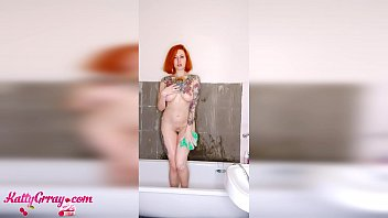 Redhead Bunny Washes Body - Homemade
