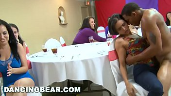 Milf sucks at bachelorette party - Wild cfnm bachelorette party with the big dick dancing bear db10551