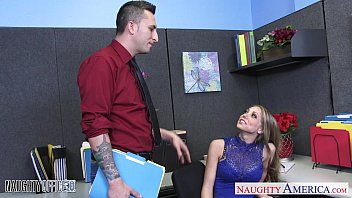 Busty office babe Shawna Lenee swallow cum
