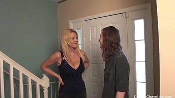 Perverted Busty Mommy Charlee Chase Fucks And Sucks Her Son's Buddy!