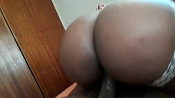 Big Round Ebony ass bounces on Big Dick