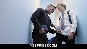 Hot priest delivers warm creampie in young boy's tight asshole-YESPRIEST.COM