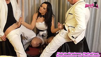 German Latina Maid make anal threesome in Hotel