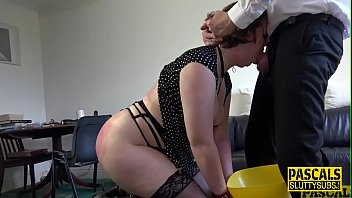 Ass paddled chubby submissive