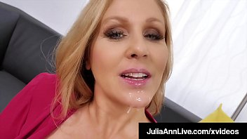 Cum in eyes video Cock craving cougar julia ann face fucks a throbbing dick