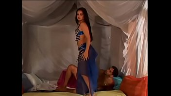 Exotic dancer in blue dress Cintya helps guy to blow off steam and de-stress from work taking his hard dick in her wet pussy and tight ass
