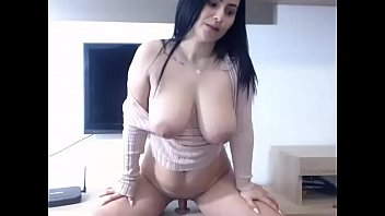 Hot chubby milf rides dildo for cum on cam