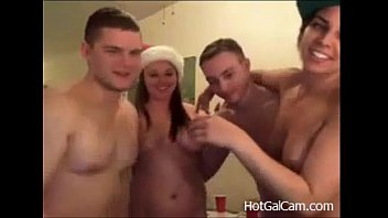 Groups cam sex - A blowjob christmas sex party - justfuckher.com1