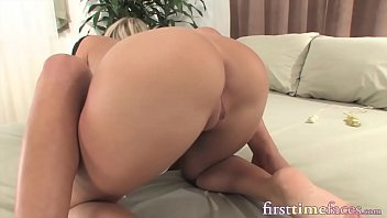 Horny newbie impaled on strap on and railed by sexy dyke
