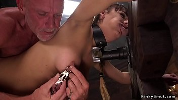 Fetish dungeons in charlotte - Wayward slave gets heavy clamps and cock